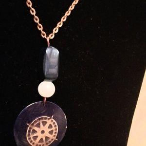Miranda's Paparazzi Style Jewelry - Copper Compass Necklace